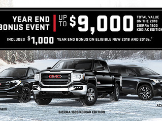 Cornwall Vehicle Shoppers, Come Get Your GM Year-End Bonus Event at Seaway GM