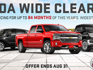 GM Canada Wide Clearance Allows Cornwall Vehicle Shoppers To Purchase The Widest Selection of New 20