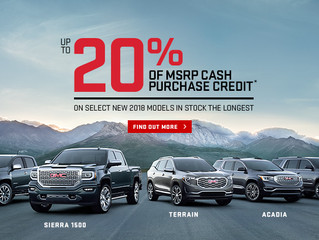 Cornwall Vehicle Shoppers Can Now Save Up To 20% of MSRP in Cash Credit or Enjoy 0% up to 72 Months
