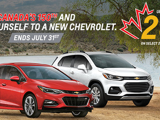 Seaway GM Offers Cornwall Vehicle Shoppers A Cash Rebate up to 20% of MSRP on All New 2017 Chevrolet