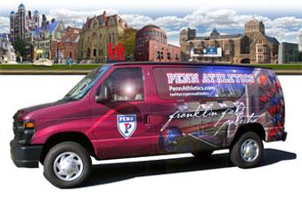 Penn Athletics Van Wrap