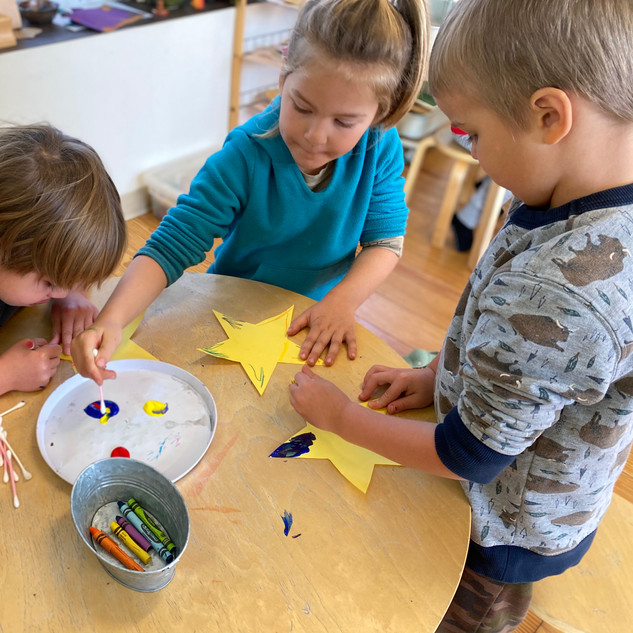 Painting our Solstice Stars