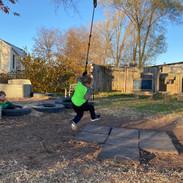 Nico on the rope swing