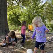 water play in the sandbox