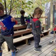 Free play in the outdoor classroom