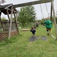 Ari and Harry swinging