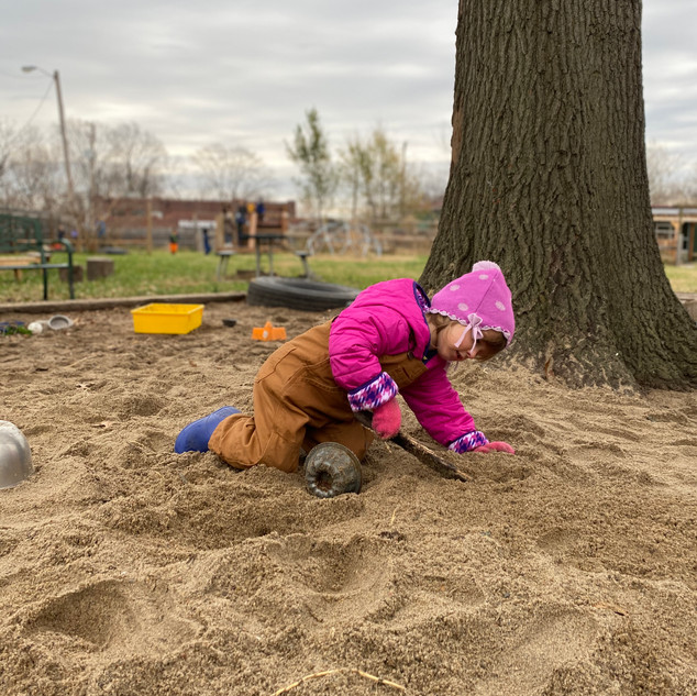 Eleanor in the sandbox