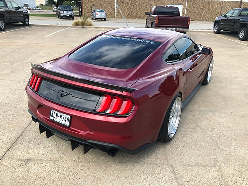 2018 Ford Ecoboost Mustang 4 Piece Diffuser Kit