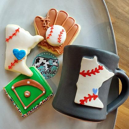 Gift mug cookie set, Baseball