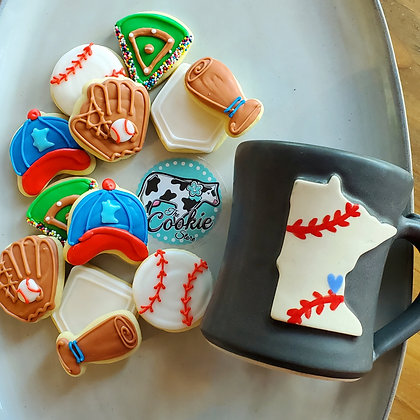 Gift mug cookie set, Baseball