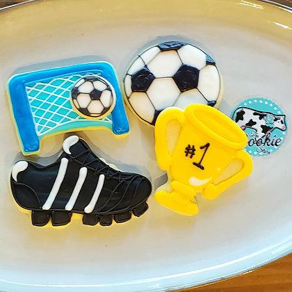 Soccer cookies, 1dz