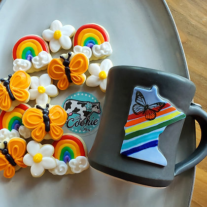 Gift mug cookie set, Rainbow