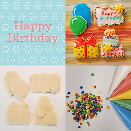 DYO Cookie Kit, Happy Birthday