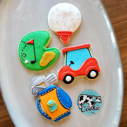 Golf Set, 1dz cookies