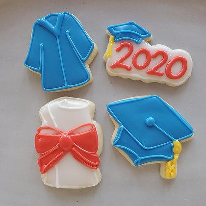 2020 Graduation Cookies, 1dz small