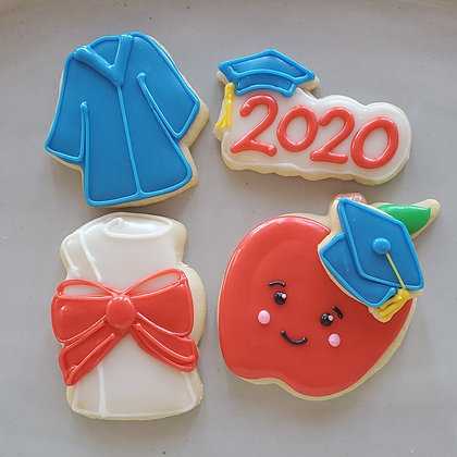 Grad cookies, 1dz small cookies