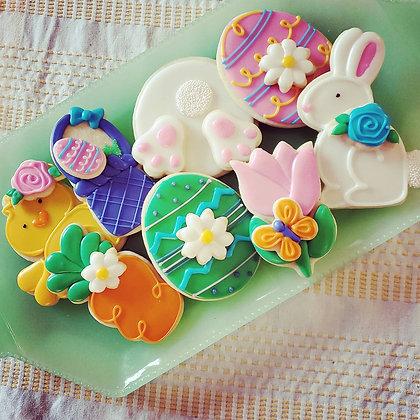 Easter Cookies, 1dz assortment