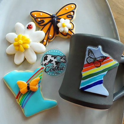 Gift mug cookie set, Rainbow