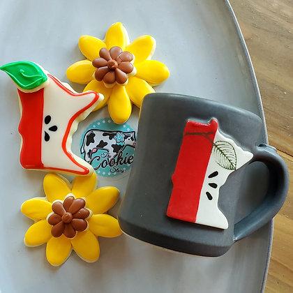 Gift mug cookie set, Apple