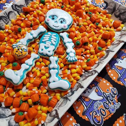 Super Scary Skeleton cookie