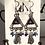 Thumbnail: Blue pyramid cats Earrings