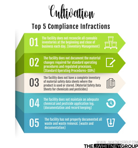 Top five cannabis cultivation compliance infractions