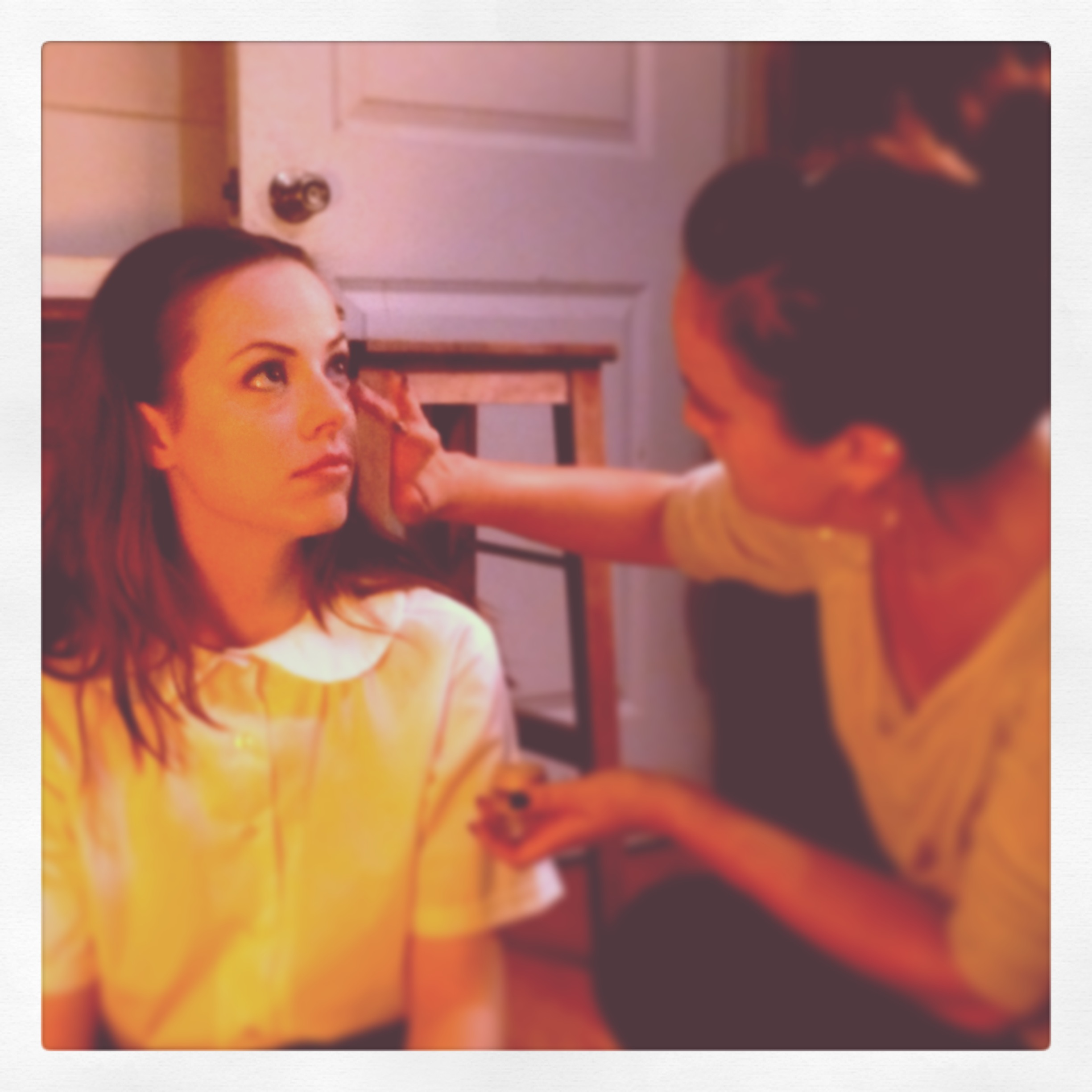 Emily Jackson in makeup