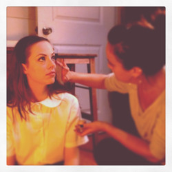 Emily Jackson in makeup