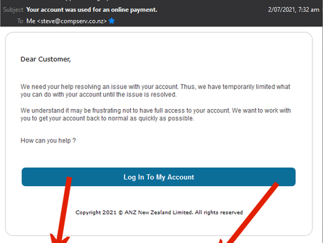 Fake!!! ANZ Email