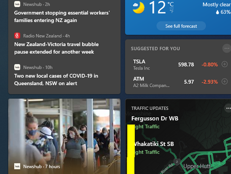 Remove The Weather, News and Interests Widget From The Windows 10 Taskbar