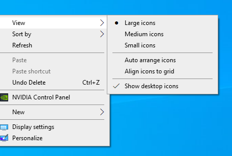 Resize Your Desktop Icons