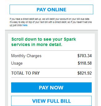 Fake Spark Bill!!!!