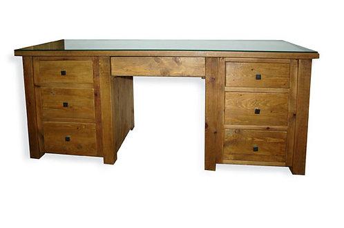 Cottage Double Pedestal Dressing Table
