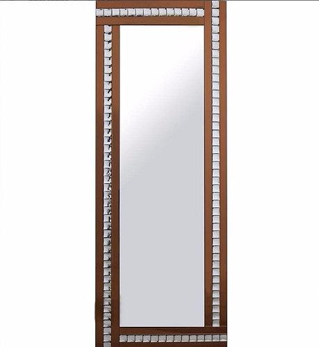 Triple Bar Crystal Mirror bronze