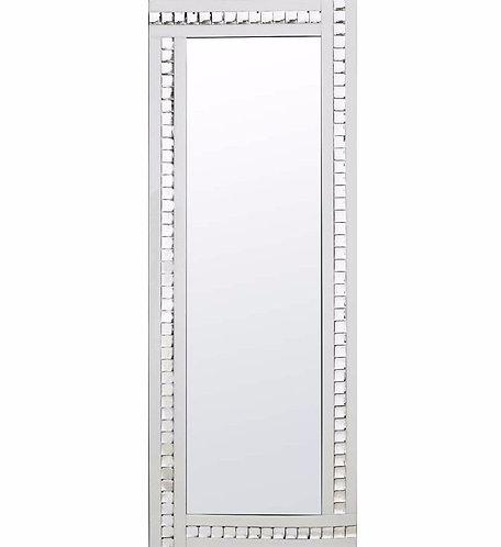 Triple Bar Crystal Mirror (white)