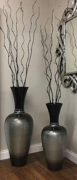 Grey & Black Vase