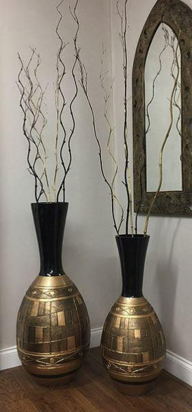 Black & Gold vase
