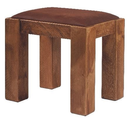 Stool With Leather Pad