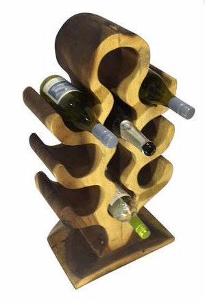 Teak Round Top Wine Holder