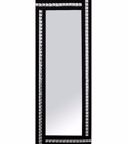 Triple Bar Crystal Mirror (black)