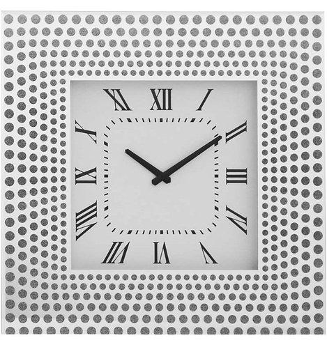 Silver Square Clock