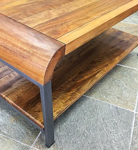 mango lounge coffee table with gunmetal legs