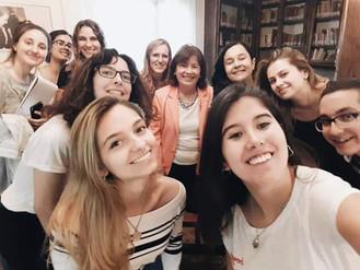 Visita de los alumnos de la Licenciatura en Letras de la UNS