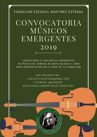 """Convocatoria Artística: """"Músicos Emergentes"""""""