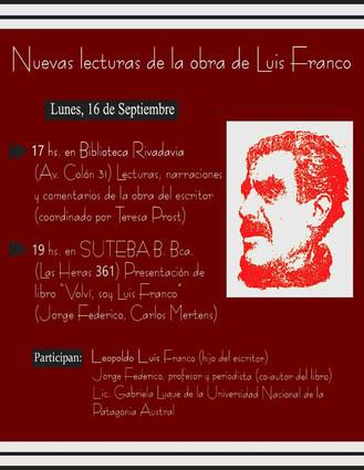 """""""Nuevas lecturas de la obra de Luis Franco"""""""