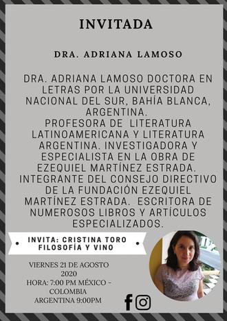 Filosofía y Vino: entrevista a la Dra. Adriana Lamoso