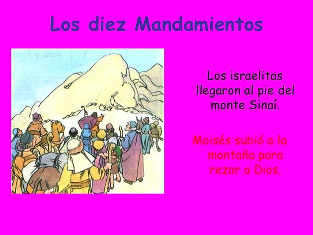 HISTORIA DE MOISÉS Y LOS MANDAMIENTOS