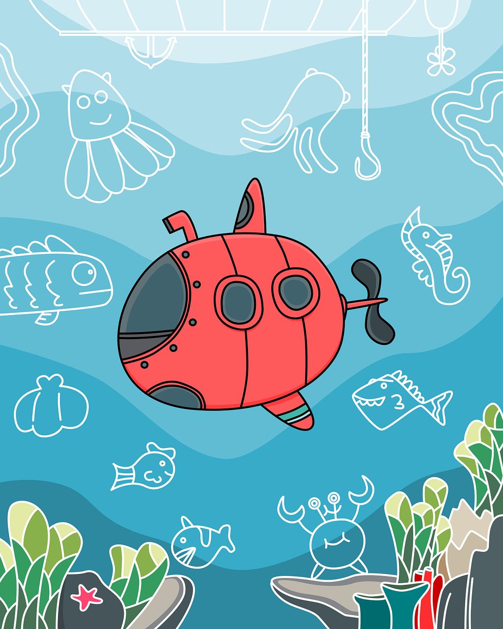 Cartooning -Underwater Adventures