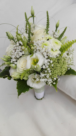 Brautstaruß weiß/grün