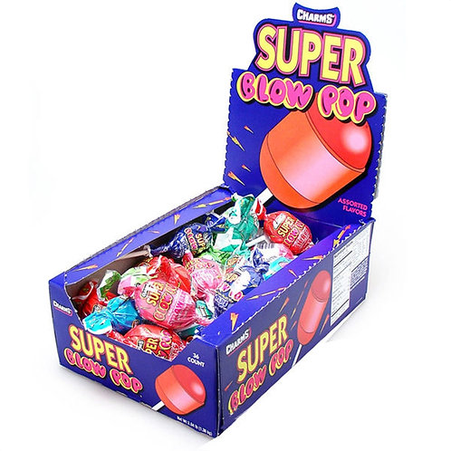 Charms Super Blow Pop Assorted 12/48